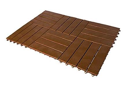 UPP® Juego de baldosas de jardín, fácil colocación I Set de 6 baldosas, losas para Patio, terraza, jardín, etc. I Impermeables y Antideslizantes (c/u 30x30)
