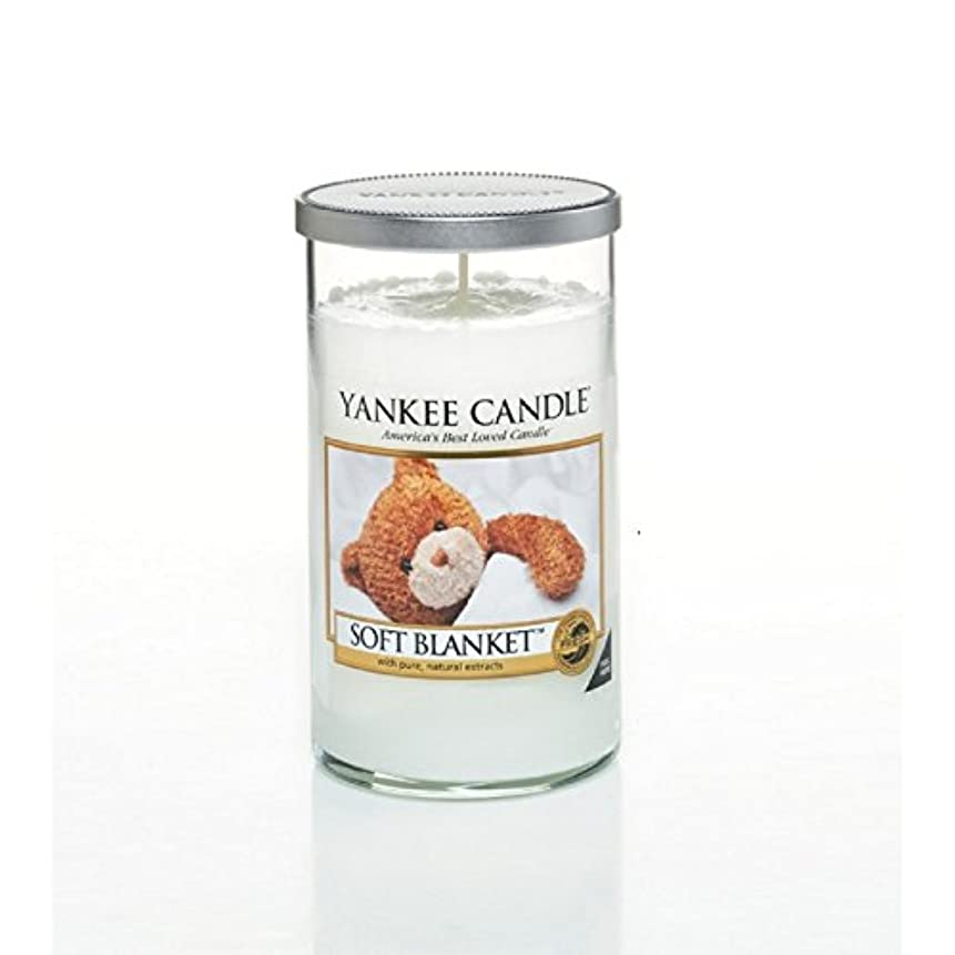 ワイン剣哺乳類ヤンキーキャンドルメディアピラーキャンドル - ソフト毛布 - Yankee Candles Medium Pillar Candle - Soft Blanket (Yankee Candles) [並行輸入品]