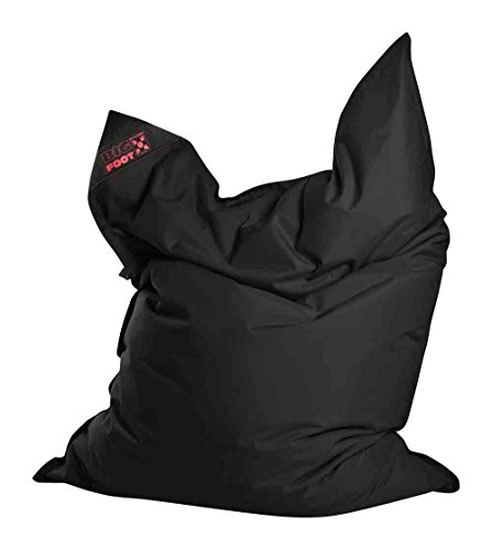 lifestyle4living Jumbo-Sitzsack, Sitzsack, Sitzkissen, Bodenkissen, Relaxkissen, Relaxsack, Bodensessel, Sitting Bag, Kindersitzsack, Schwarz, Maße: B/H ca. 130/170 cm