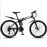 Bicicleta de montaña Mountainbike Bicicleta Bicicletas de montaña, 26' bicicletas plegables bicicletas de montaña, marco de acero, con doble freno de disco y doble suspensión Bicicleta De Montaña Moun