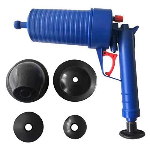 Bomba de drenaje de presión de aire, herramientas de dragado de aire, pistola de drenaje de alta presión para baño de inodoro, limpiador de bomba de presión desatasca el juego de émbolo de mano