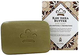 Bar Soap Raw Shea Butter 5 Oz By Nubian Heritage, 3-Pack