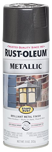 Rust-Oleum 244228 Stops Rust Metallic Spray Paint, 11 oz, Charcoal