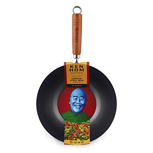 Ken Hom WKH327001 KH327001-Ovillo de Lana, Color negro, Acer