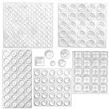 CKANDAY Confezione da 202 pezzi di cuscinetti adesivi trasparenti per paraurti, quadrati sferici, autoadesivi e fonoassorbenti in gomma trasparente per armadi, porte, cassetti, top in vetro, cornici