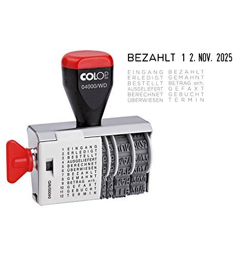 Herlitz 10549863 Stempel Colop mit Datum und 12 verschiedenen Büro-Texten