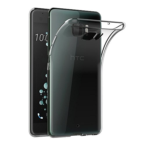 COPHONE® Coque Compatible avec HTC U Ultra Etui Transparent antidérapent Coque en Silicone Transparente et Discrete. Haute Protection.