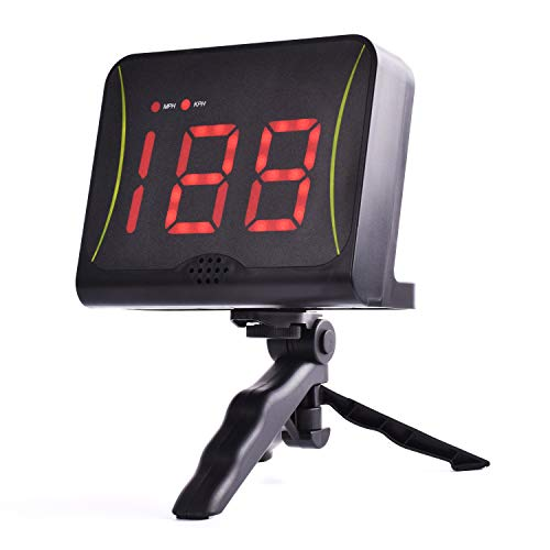 DRM Hockey Shot Puck and Ball Speed Radar with Red Digit Led Display,Shot...