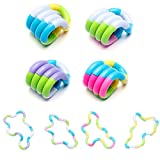 WATLIFE 4Pcs Fidget Toys Therapy Creation Toys Decompression Anxiety Stress Relief Toys DIY Brain Imagine Creation Tools for Adults Teens Home Class Work Outings ADHD (4x18 Segments)
