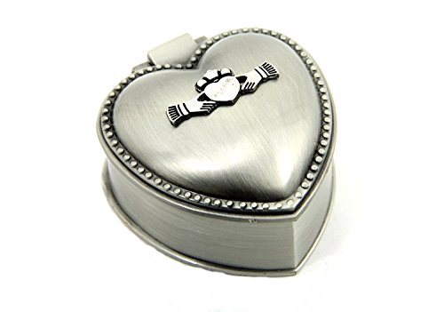 Mullingar Pewter Irish Gift for Women Jewelry Box Claddagh Heart Design 2 1/4 Inches by 1 1/4 Inches Pewter Made in Ireland