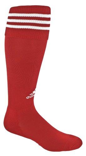 adidas Copa Calcetines de cojín de Zona, Mujer niña Niños Hombre, Color Rojo/Blanco, tamaño X-Small Fits Youth Shoe Size 9C-1Y