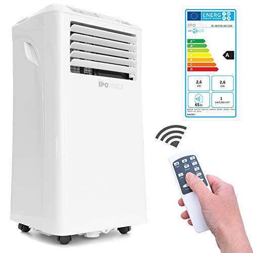 IPOTOOLS Lokales mobiles Klimagerät mit Abluftschlauch / 3in1 mobile Klimaanlage/Kühlen Ventilieren Entfeuchten (9000 BTU)
