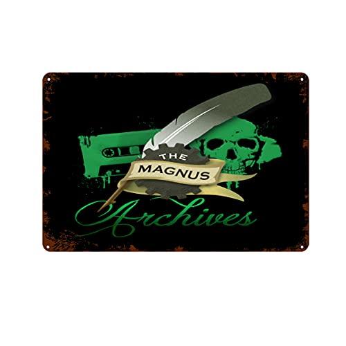 The Magnus Archives Sign Iron Painting Home Family Lovers Regalo Divertente Metallo Segni Camera Da Letto Novità Retro Salotto Cortile Decorazione Da Parete 20x30 cm