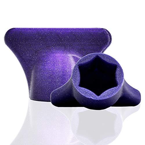 mix-slider - Teigblume für Thermomix, Teiglöser Zubehör für Vorwerk Küchenmaschine TM5 + TM6 3D gedruckt Made in Germany (Glitter Violett)