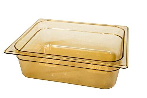Rubbermaid Commercial Products Fiambrera Amber transparente de 150 mm y 2,4 l, ámbar, 1/2 100 mm/6 L