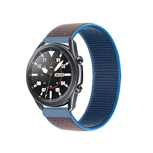 DALIANMAO WatchBand 20 22mm Nylon Watch Band para Watch 42 46mm para Huawei Watch GT 2 Strap (Band Color : Surf Blue, Band Width : 20mm)