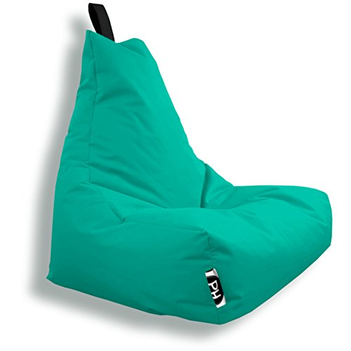 Patchhome Lounge Sessel XXL Gamer Sessel Sitzsack Sessel Sitzkissen In & Outdoor geeignet fertig befüllt | XXL - Türkis - in 2 Größen und 25 Farben