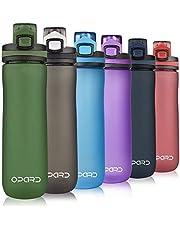 Opard Sport Waterfles, 600 ml BPA vrije niet-giftige Tritan Plastic Drinkfles met lekbestendige Flip Top Deksel voor Gym Yoga Fitness Camping (G-Green)