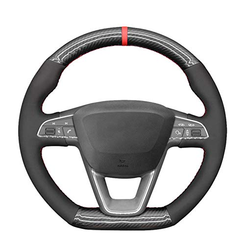 Cubierta de volante de coche negro de fibra de carbono, para Seat Leon Cupra Leon ST Cupra Leon ST C