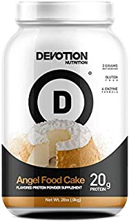 Devotion Nutrition Whey Protein Powder, Angel Food Cake Flavor, 20g Protein, Sugar Free, 2lb Tub, Packaging May Vary
