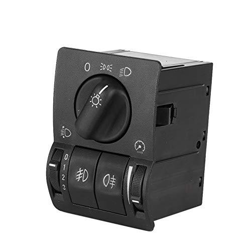 EBTOOLS Auto Hauptlichtschalter, schwarz ABS Licht Scheinwerfer Nebelscheinwerfer Lichtschalter Control Fit für Astra G 99-08, 6240097
