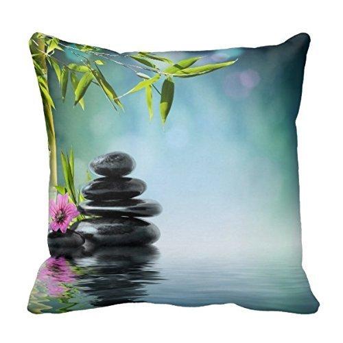 Vcoanyu Zen Bliss Meditation Frieden Yoga Chakra Namaste Throw Kissenbezug Personalisierte 18x18 Zoll quadratische Baumwolle dekorative Throw Kissenbezug Dekor Kissenbezüge