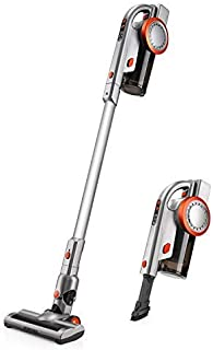 PUPPYOO A9 Cordless Stick Vacuum Cleaner, 17Kpa Powerful Suction, 200W Brushless Motor HEPA Filter