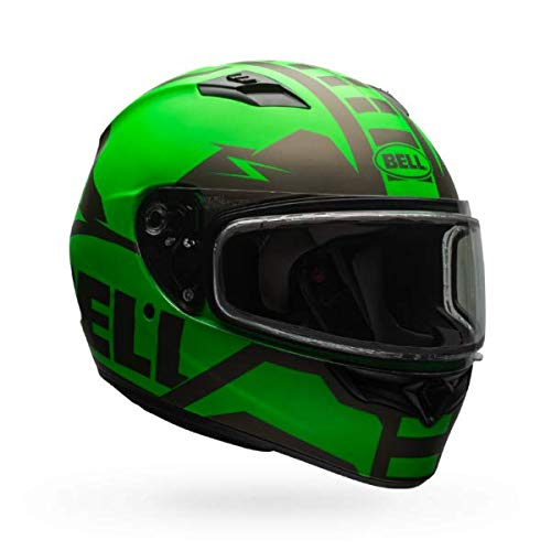 Bell Qualifier Dual Shield Snow Helmet (Matte Green/Titanium, XXL)