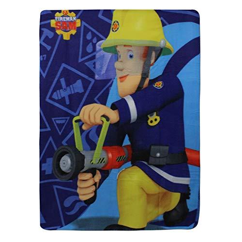 SETINO 720-305 Feuerwehrmann Sam Fleece Decke Kuscheldecke Tagesdecke 100x140cm