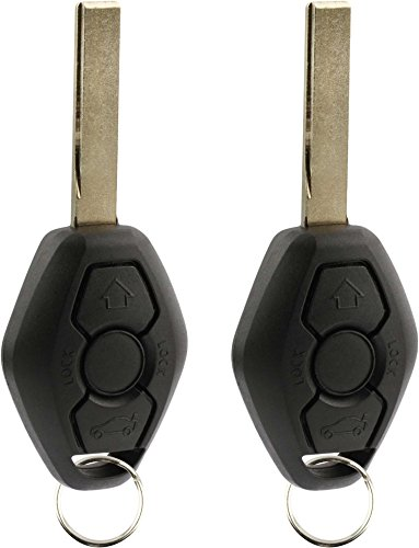 KeylessOption Keyless Entry Remote Control Car Key Fob Smooth Style Replacement for LX8 FZV (Pack of 2)