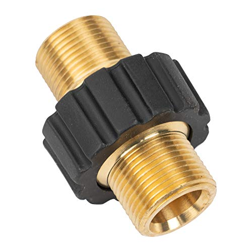 Xiny Tool Pressure Washer Adapter, Metric M22 15mm Male Thread to M22 14mm Male Fitting, 4500 PSI