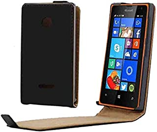 Mobile Phone Cases & Covers, Vertical Flip Magnetic Button Leather Case for Microsoft Lumia 435