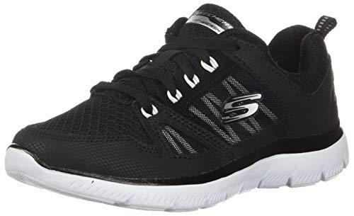 Skechers Damen Summits-New World Sneaker, schwarz/weiß, 38 EU