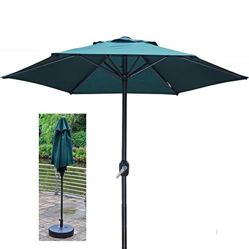 Baibao - Sombrilla para jardín (200 cm, protección solar UV50+, con manivela, no incluye base)