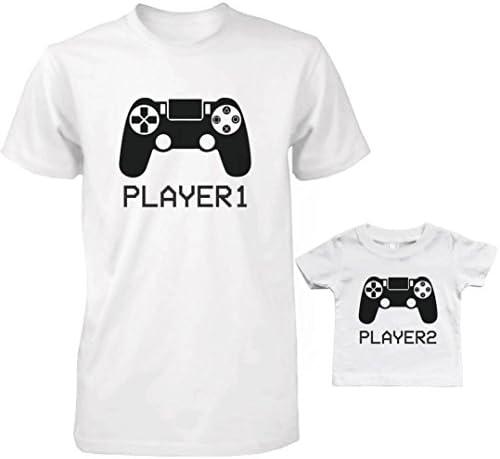 Daddy y bebé a Juego Camiseta y bebé Camiseta Set