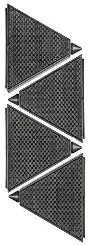 kwb 785800 4 x TriGrips Werkstückunterlagen/Werkstück-Stopper inkl. Rutsch-Hemmendem Belag und Lackier-Spitzen