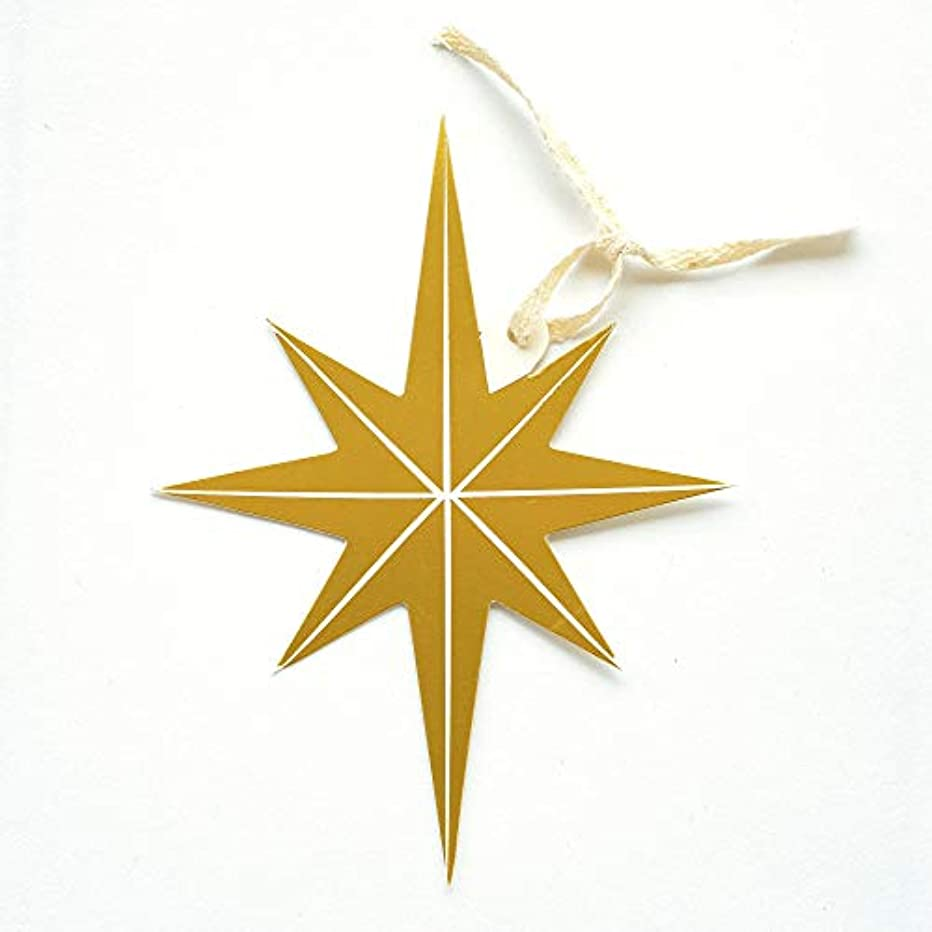 Hester & Cook Gift Tag/Napkin Holder/Bottle Tag - Gold Star