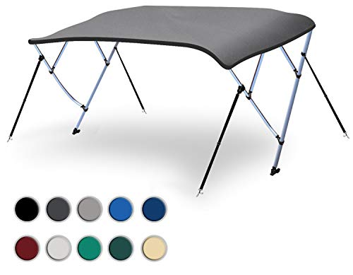 Check Out This Naviskin Light Grey 4 Bow 8'L x 54 H x 73-78 W Bimini Top Cover Includes Mounting ...