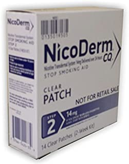 NicoDerm CQ Clear Nicotine Patch 14 milligram 14 count (Step 2)
