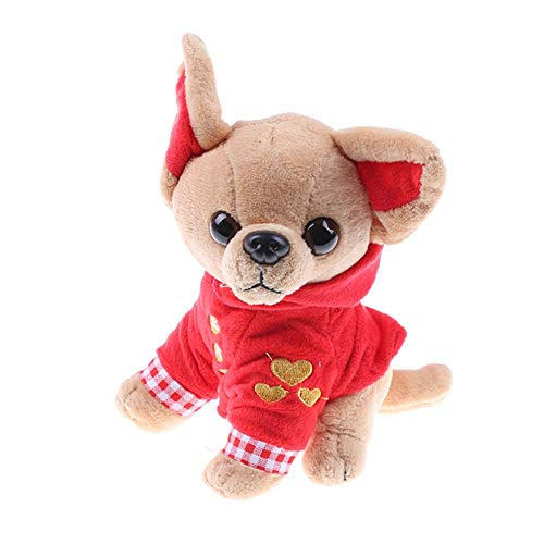 wwwl Juguete de Peluche Stuffed Animal Peluche Perro Chihuahua Peluche Juguete Creativo Muneca Rellena Simulacion Juguete Kawaii Regalo para Nino> RD