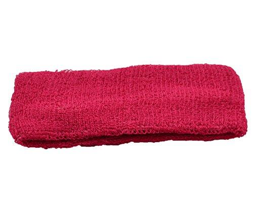 MB-Frottee-Haarband, ideal für Sport Einheitsgröße Hot Pink