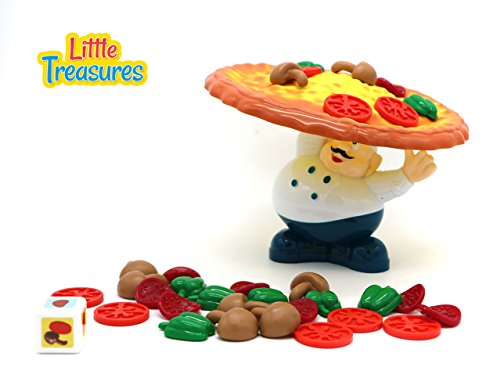 Little Treasures Incline Pizza Balancing Pile Up Game for Ages 3 and Up