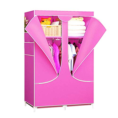 Lowest Prices! PENG Wardrobe Steel Frame Cloth Wardrobe Closet Folding Assembly Wardrobe Cloth Wardr...