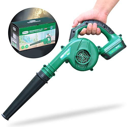 ALGWXQ Soplador de Hojas eléctrico - Sopladora y aspiradora de jardín 3 en 1 - Aspiradora y trituradora Ligera, regulación de Velocidad de 2 velocidades (Size : Dual Battery Carton)