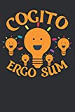 Cogito Ergo Sum: Famous Philosophy Quote Composition College Notebook/ Jorunal and Gift Diary to Write In / 100 Pages of Ruled Lined & Blank Paper / 6'x9'