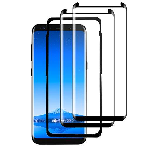 YEEHAN S8 Plus Vetro Temperato,Galaxy S8 Plus Vetro Temperato [3D Curva] [9H Durezza] [Custodia adatta] [Cornice di allineamento] per Samsung Galaxy S8 Plus【2 Pezzi】