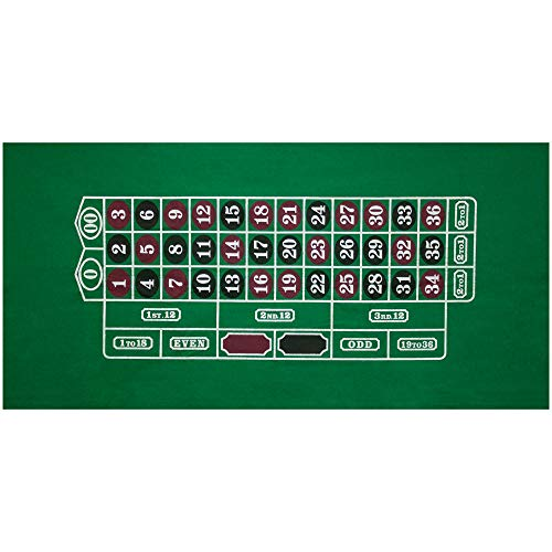 GSE Games & Sports Expert 36x72 Roulette Casino Tabletop Felt Layout Mat