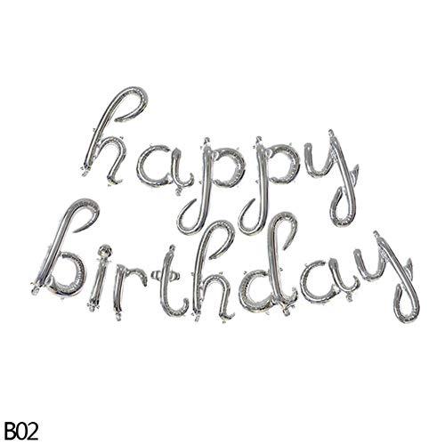ASD Verjaardag partij opknoping slinger decoratie18inch gelukkige verjaardag folie ballon