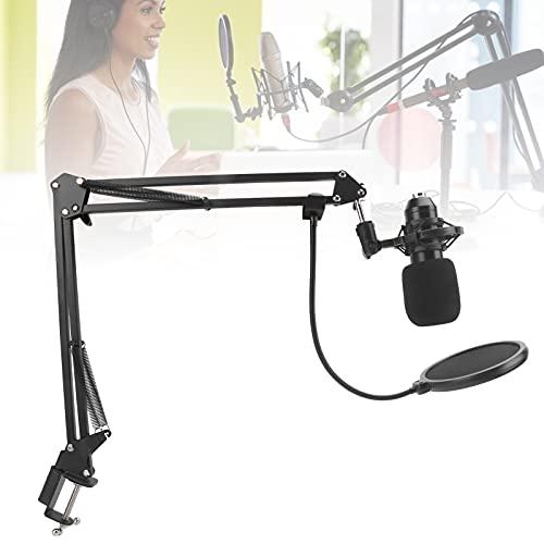 Studio-Aufnahmegerät, Hängendes Mikrofon Mikrofone Arm Hängeständer Mikrofon Bequem Mikrofon Clip Kondensator Mikrofone Halter für Web Hosting