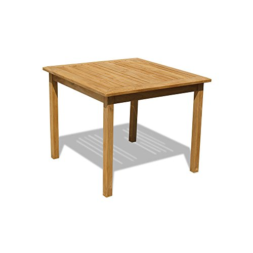 Jati Hampton Fixed Teak Square Garden Table (90x90 cm) Brand, Quality & Value